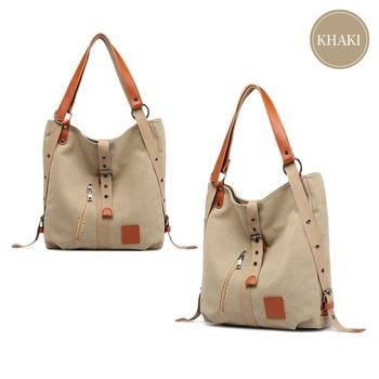 New Canvas Shoulder Bag Ladies Crossbody Bags Reusable Back Bags Multifunction Fashion Travel Bag Large Capacity