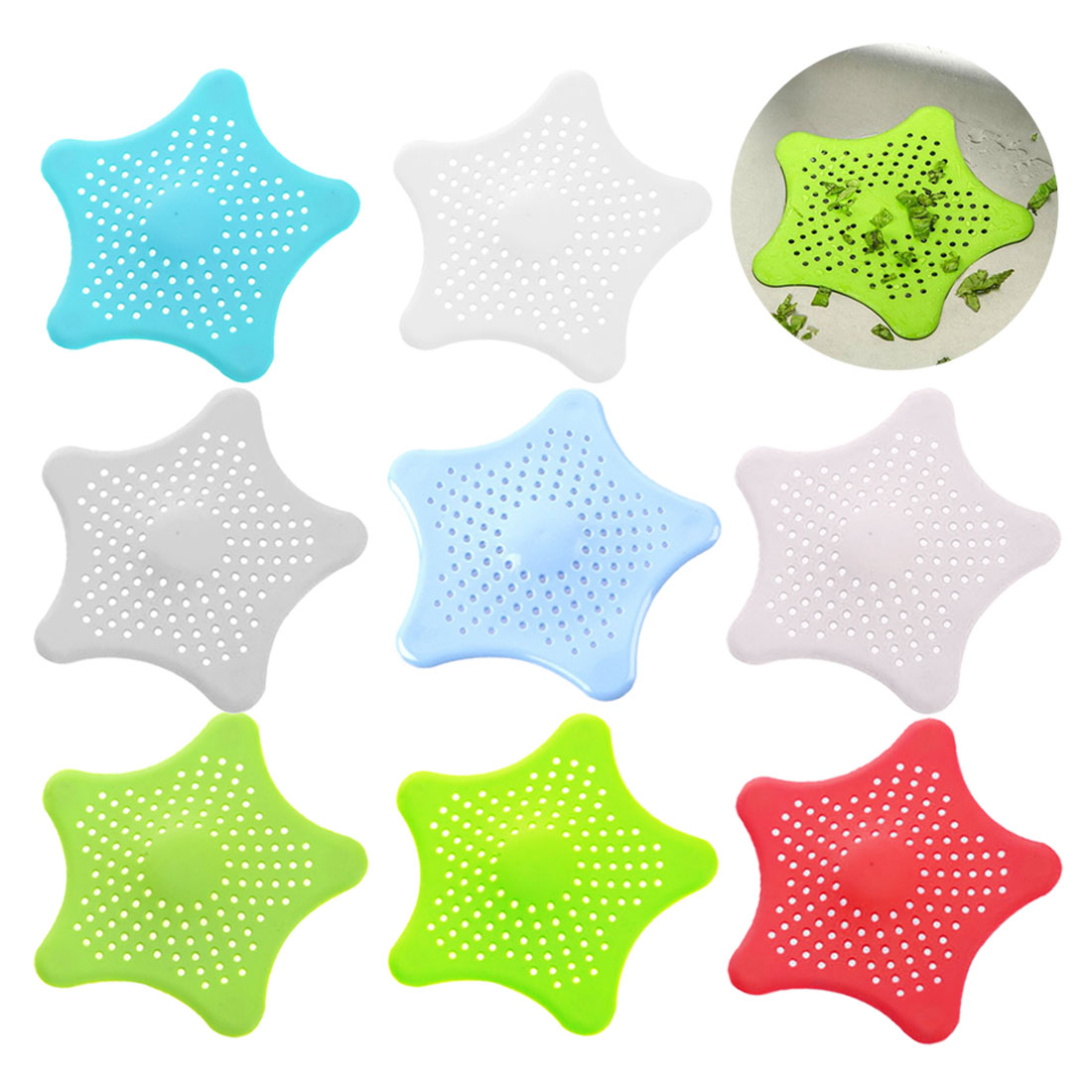2019 New  Bathroom Kitchen Sink Strainer Star Bathroom Drain Hair Catcher Bath Stopper Plug Sink Strainer Filter Shower