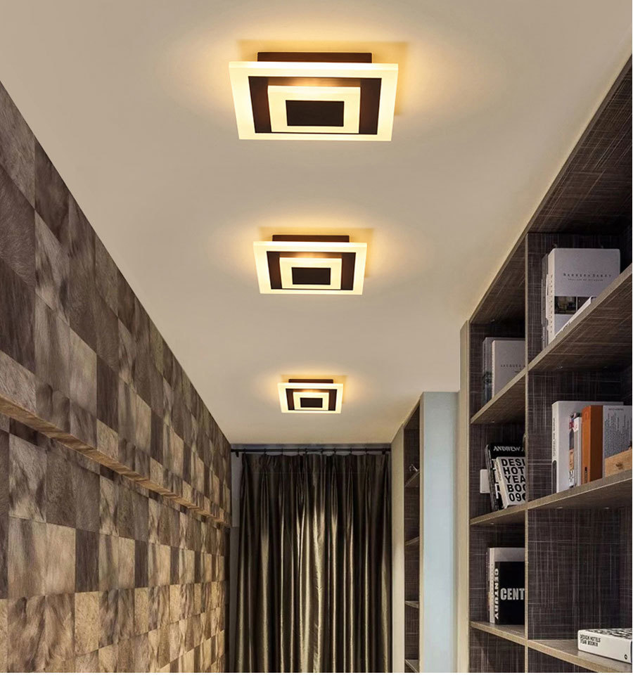 H38af98e0dbb34c87b58854a01fb7f5c4G Ceiling Light Modern LED corridor Lamp For bathroom living room round square lighting Home Decorative Fixtures dropshipping