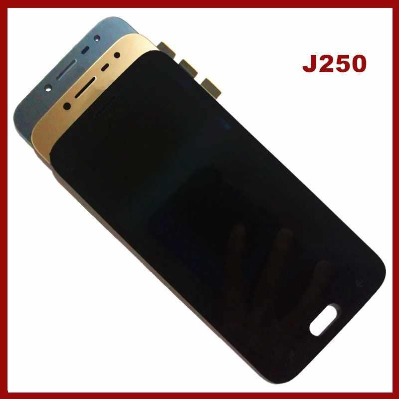 اختبار J250 Amoled LCD يمكن استخدامها لاستبدال سامسونج غالاكسي J2 برو 2018 J250 J250F LCD محول الأرقام بشاشة تعمل بلمس مكون