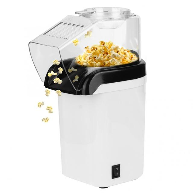220v-240v 1200w Electric Corn Popcorn Maker Household DIY Automatic Mini Hot Air Popcorn Making Machine Home Kitchen appliance Appliances