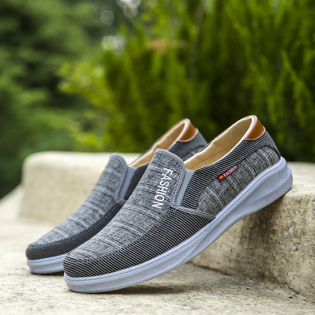 BJYL New canvas fashion sneakers men's casual belt light shoes comfortable breathable walking shoes Zapatillas Hombre M1317 1