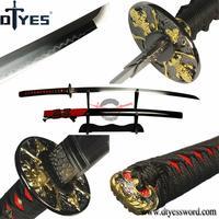 DTYES Individualized Skull Tsuba Japanese Samurai Sword T10 Carbon Steel No Hi Strong Blade Katana Razor Sharp Battle Ready