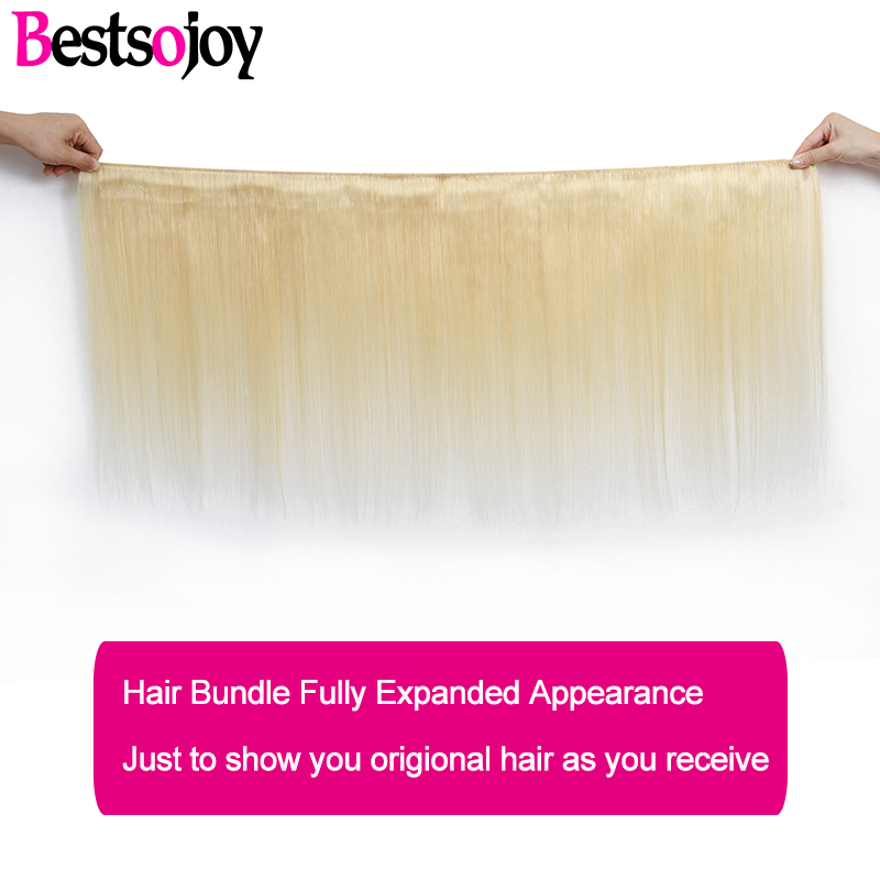 Image 2 - Bestsojoy 613  Blonde Lace Front Wig Brazilian Remy Human Hair Wigs for Black Women Straight 13x4  Transparent Lace Wig-in Human Hair Lace Wigs from Hair Extensions & Wigs