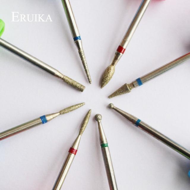 ERUIKA 8 Type Diamond Nail Drill Bit Rotary Burr Bit Pedicure Tools Electric Nail Manicure Machine Drill Accessories Nail Mills 2