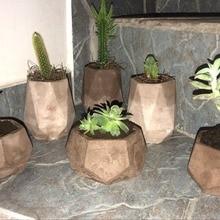 Silicone Concrete Molds Geometric Flowerpot Mold Handmade Succulent Planter Pot Mould