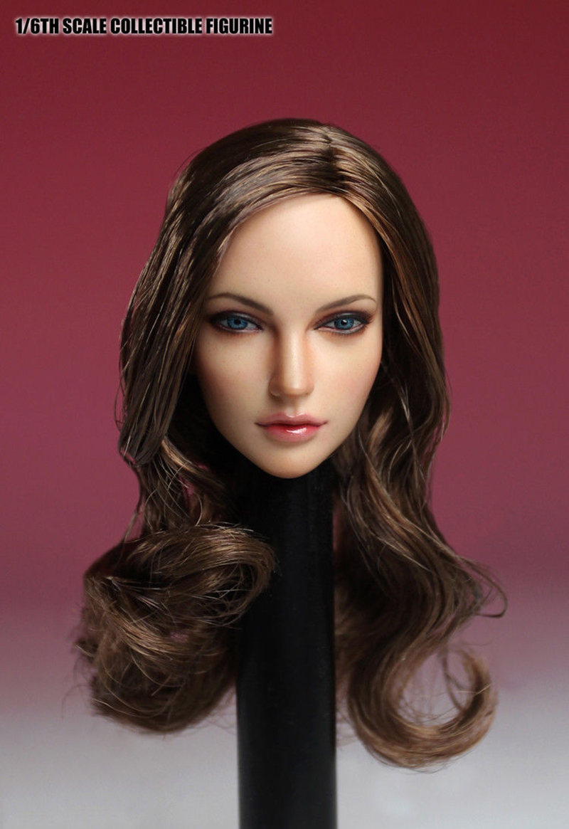 1//6 SDH005B SUPER DUCK Blonde Hair Female Head Carved PVC Head Sculpt Model