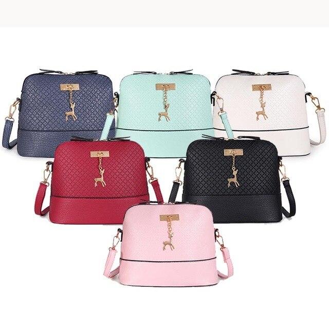 PU Leather Women Shoulder Bag Female Purse deer pendant Handbags Girl Mini Crossbody Bag Vintage Small Mini Flap Bolsos Luggage & Bags