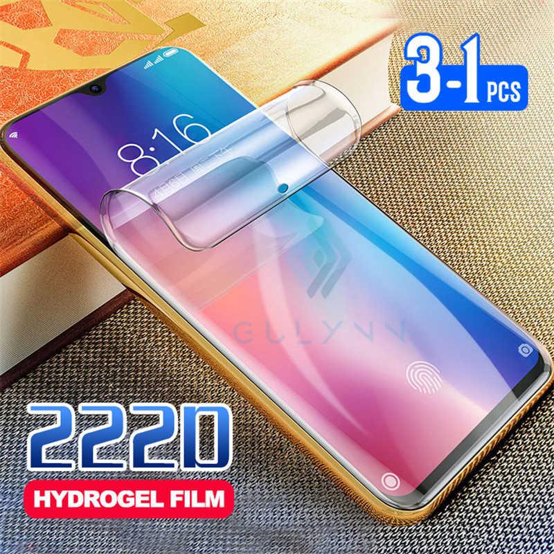 1-3Pcs 220D Hydrogel Film Voor Xiao Mi Rode Mi Note 6 7 8 8T Pro K20 k30 Protector Film Voor Xiao Mi Mi A3 A2 9 Lite 9T Screen Film