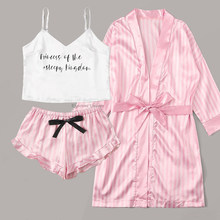 Pijamas de manga longa das mulheres sexy lingerie de renda roupa de dormir roupa interior 3 pcs terno de pijama conjunto para mulher pijamas mujer casa terno