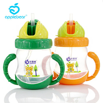 240ml Baby Feeding Cup Toddler Infant Kids Training Cup with straw Portable spill proof children Bottle baby feeding water bottle portable no spill cup my plastic bottle children s small kettle with straw food grade slide cover copo