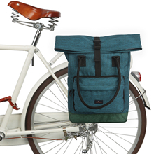 Tourbon Vintage Bicycle Bag Bike Pannier Bags Cycling Rear Pack Back Seat Retro Leisure Daily Handbag Laptop Carrier