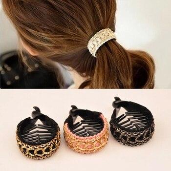 Korean Women Hair Clips Elegant Crochet Hair Claw Large Hairpins Banana Hair Clips Ponytail Hold Clamp Girl Hair Accessories 1
