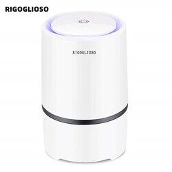 Очиститель воздуха RIGOGLIOSO для дома, HEPA фильтры, 5 в USB кабель, низкий уровень шума, очиститель воздуха с ночным освещением, настольный GL2103