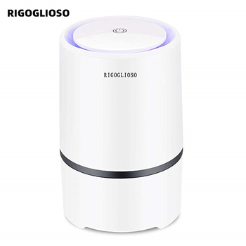 RIGOGLIOSO Air Purifier Cleaner for Home HEPA Filters 5v USB  cable Low Noise with Night Light Desktop GL2103 - discount item  14% OFF Household Appliances