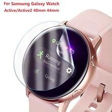 1% 2F2Pcs ультратонкий защитный пленка для Samsung Galaxy Watch Active 1 2 40 мм 44 м Active2 3D круглый край экран протектор чехол ремешок