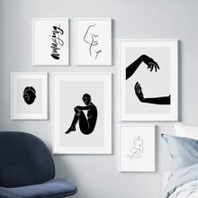 Sexy Woman Abstract Line Body Art Simple Wall Canvas Painting Nordic Posters And Prints Pictures For Living Room Decor