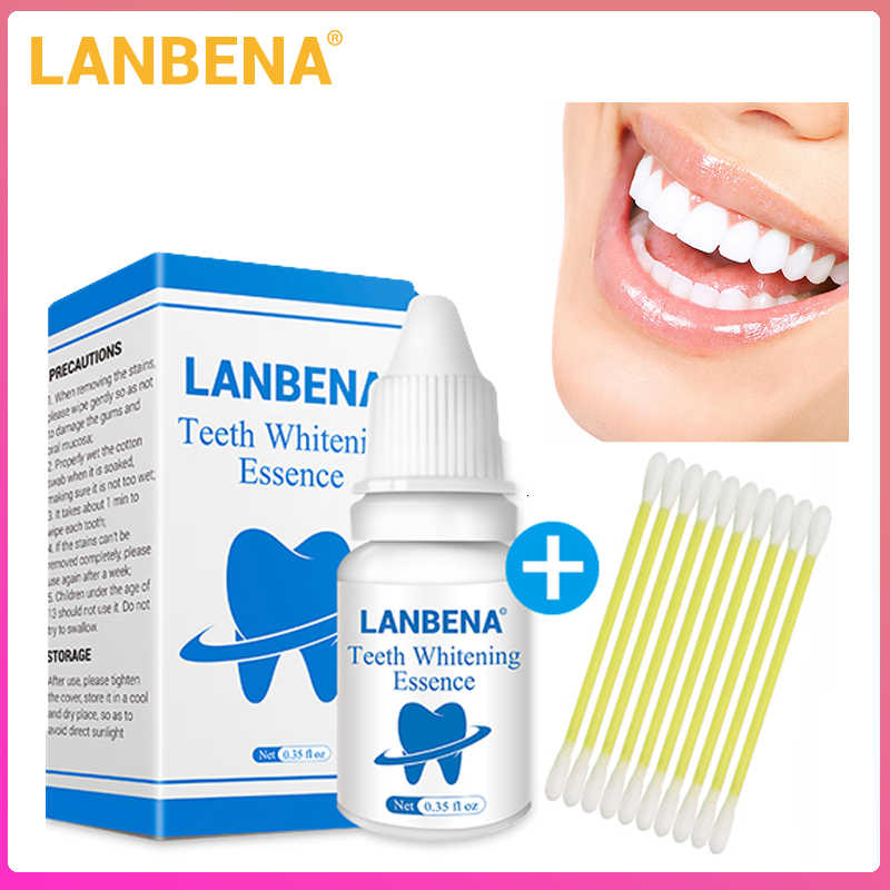 LANBENA Whitening Teeth Essence Powder Oral Hygiene Cleaning Serum Removes Plaque Stains Tooth Bleaching Dental Instrumen Tools