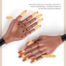 Modèle de main esthétique, équipement de pratique de manucure, exercices de fabrication, entraînement Flexible, fausse main pour Nail Art