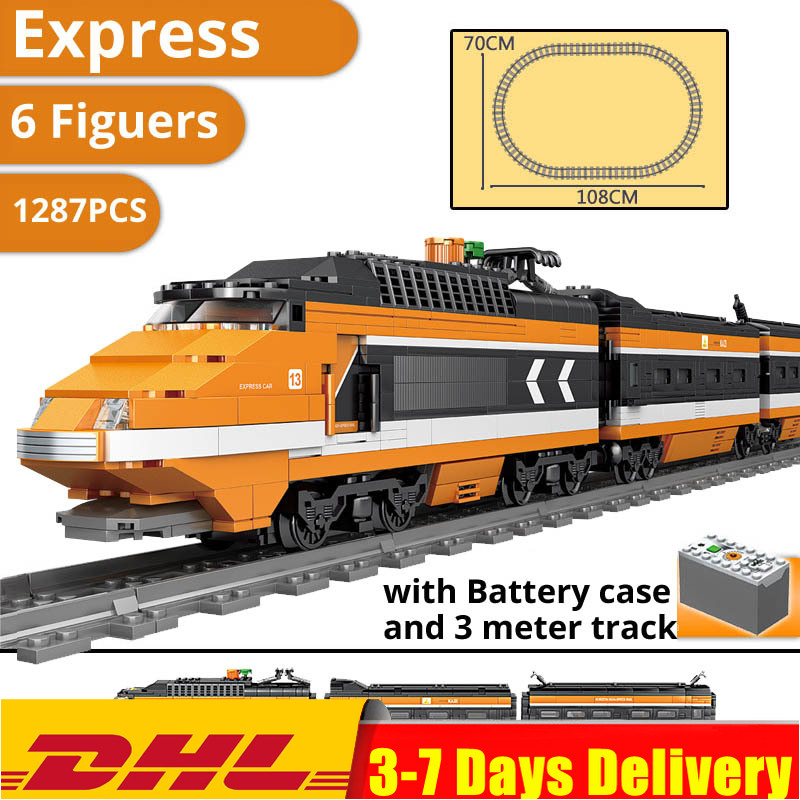IN Stock DHL Horizon Express Train Model Building Kit Blocks Bricks Compatible Children Toy 21007 <font><b>10233</b></font> image