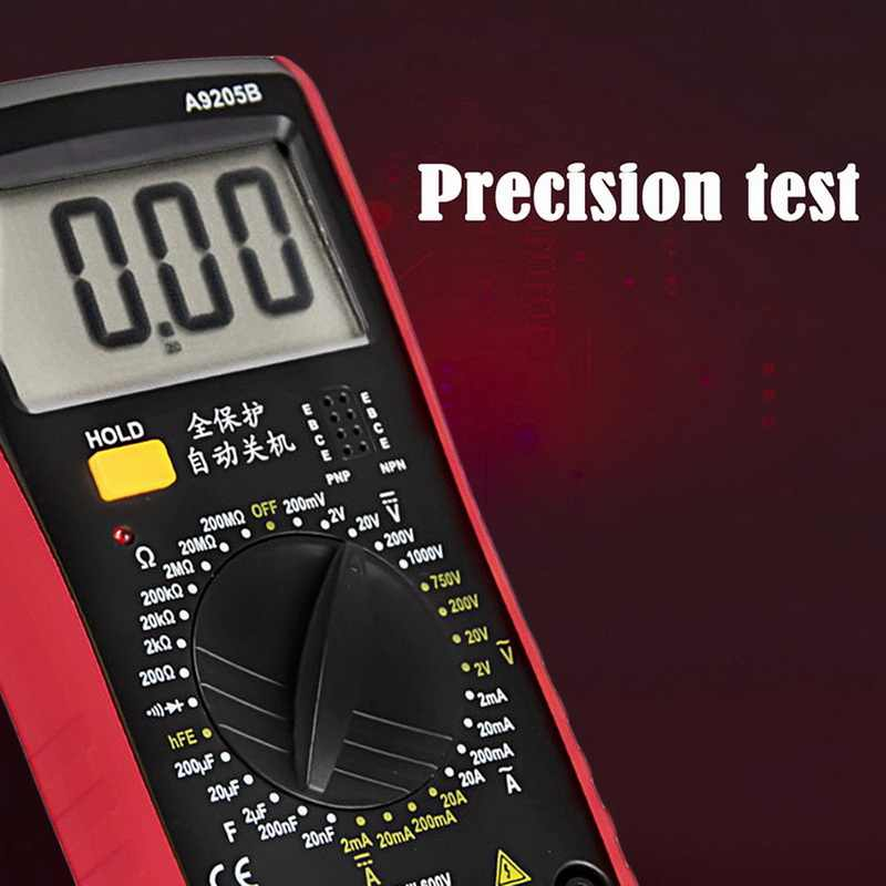 Draagbare Voltage Meter Tester Multimeter voor Huishoudelijke Apparaten voltage weerstand condensator DC AC testen elektrische