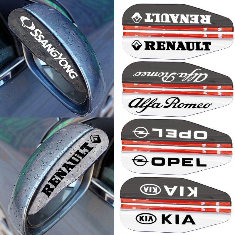 2 шт. Авто Зеркало заднего вида лезвия дождевое приспособление Водонепроницаемая наклейка для Ford Focus 2 3 1 Fiesta MK1 MK2 MK3 MK4 MK5 MK7 Fusion Ranger