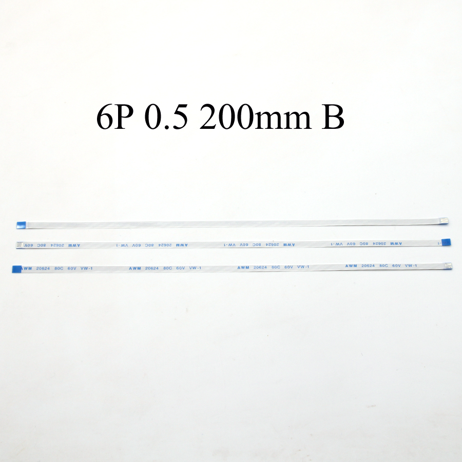 100pcs New Power Switch Flex Cable For Asus A550 A550C X550 X550V X550VC X550C X550CC FFC FPC Flexible Cable Length 20cm 6-Pin