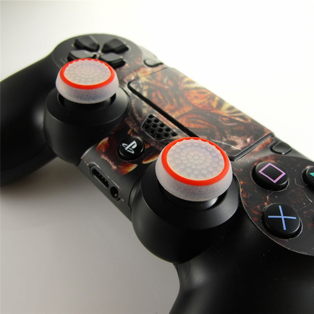 2PCS Silicone Thumb Stick Grip Caps Protective Cover Gamepad Keycap For PS4 Game Controllers Button Protector 4