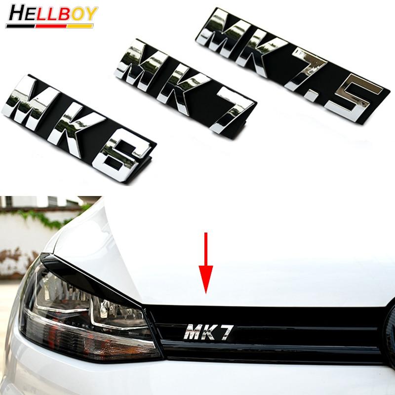 Эмблема передней решетки автомобиля значок наклейка для VW GOLF 6 7 MK6 MK7 MK7 2008-2018 Volkswagen аксессуары для стайлинга автомобиля