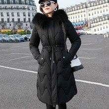 Long Winter Jacket Women Elegant Sleeve Warm Zipper Lady Fur Hoodies Parkas 2019 New Fashion Hooded Coats Kurtka Damska