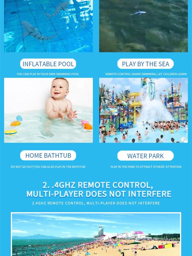 dwaterproof água controle remoto brinquedo da piscina