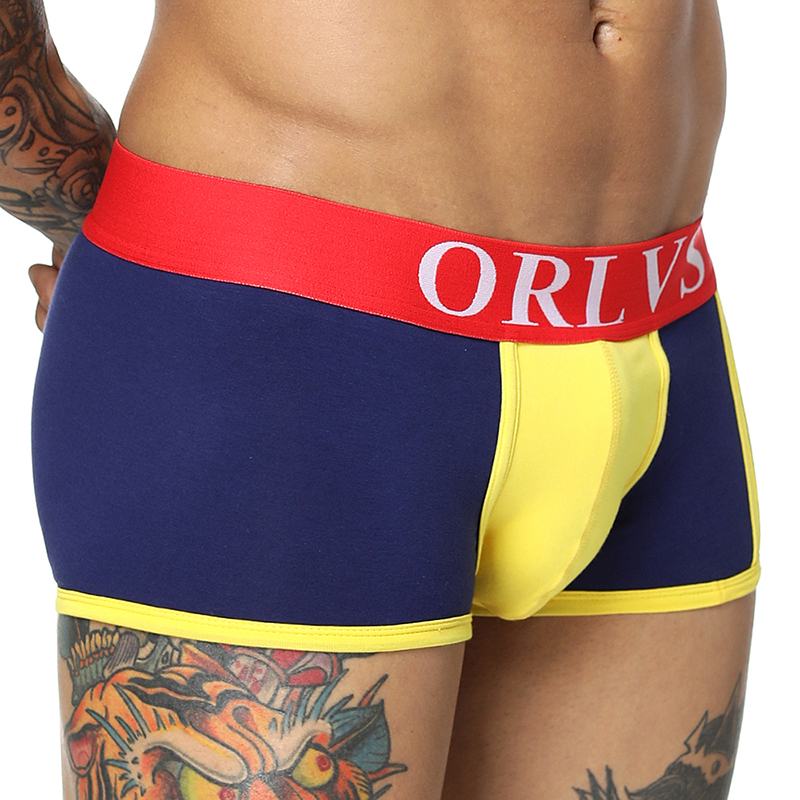 ORLVS Brand male underwear men <font><b>boxers</b></font> <font><b>sexy</b></font> gay panties cueca tanga breathable cotton <font><b>boxer</b></font> <font><b>para</b></font> <font><b>hombre</b></font> men <font><b>boxer</b></font> short quick dry image