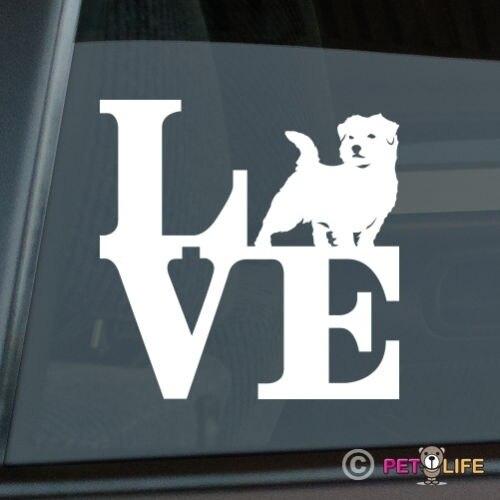 Love Norfolk Terrier Sticker Die Cut Vinyl - Park Computer Decal