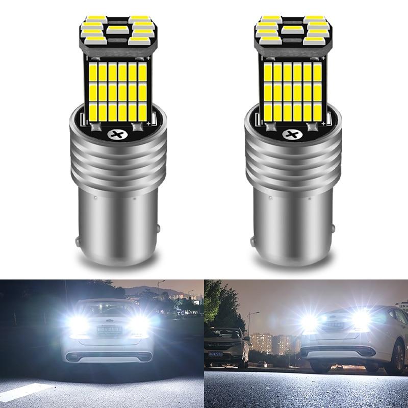 2шт BA15S P21W 1156 Автомобильный светодиодный светильник заднего хода лампа 4014 чипов для VW Passat B5 B6 Golf Canbus Авто Лампа без ошибок DC 12V 6000K Сигнальная лампа      АлиЭкспресс