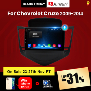 Junsun 4G+64G Android 10 For Cruze Chevrolet 2008 - 2015 Auto 2 din Car Radio Stereo Player Bluetooth GPS Navigation No 2din dvd