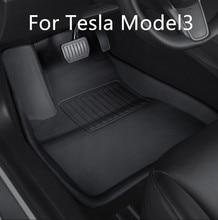 Tesla modelo 3 coche impermeable antideslizante alfombra de piso TPE XPE accesorios de coche modificados 3 unids/set de recubrimiento completo especial pie pad