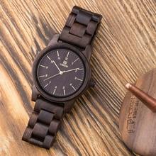 Uwood 100% Natural Wood Watch for Men Vintage Mens Wooden