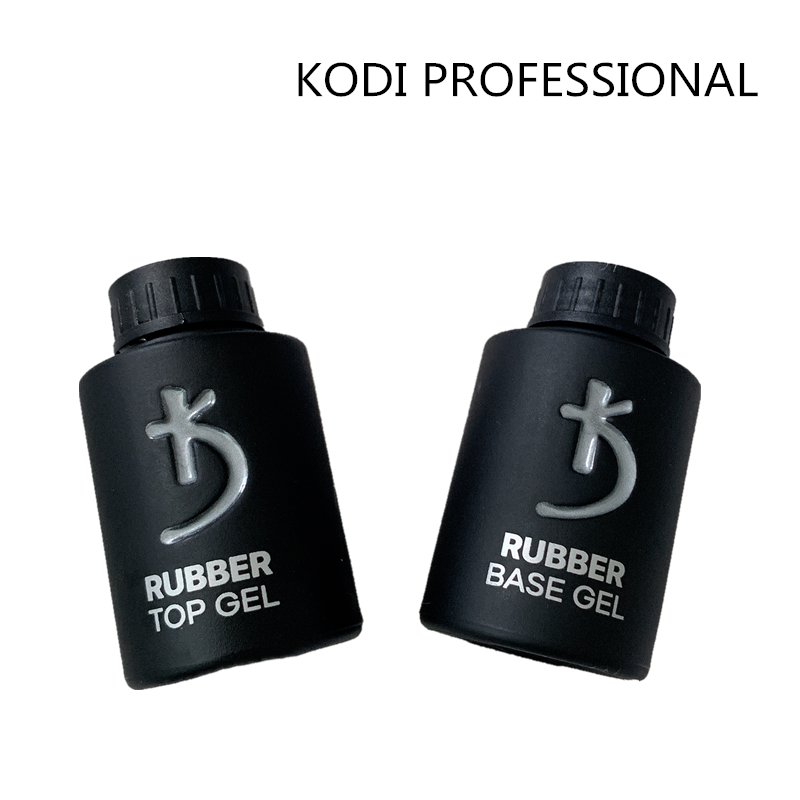 Top Quality 35ml Kodi Rubber Top Coat Base Coat Led Gel Nail Polish UV Nail Primer Soak Off UV Nail Gel Manicure Nail Art Salon