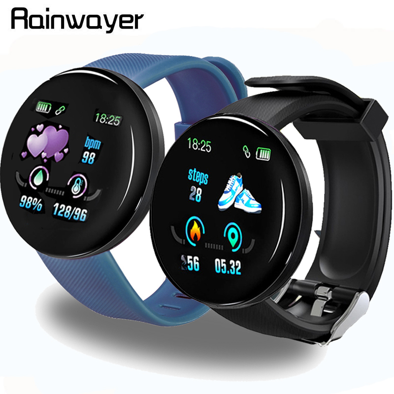 D18 Bluetooth Smart Watch Men Women Blood Pressure Smartwatch Sport Tracker Pedometer 116 Plus Smart Watches For Android IOS A2|Smart Watches|   - AliExpress