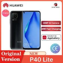 Huawei P40 Lite 6Gb 128Gb Global Versie Smartphone 48MP Ai Camera 6.4 ''Fhd Scherm Kirin 810 Octa core 40W Qc الهاتف الخلوي