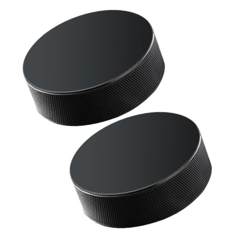 Super Sell-Powerti New Sports Classic Black Ice Hockey Puck Training Practice Tool(2Pcs)