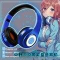 Miku Nakano Sanken Cosplay inalámbrico con cable 2 en 1 auriculares Bluetooth Anime go-toubun no Hanayome los regalos quintsdentiales de los auriculares