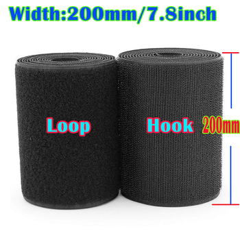 200 mm Width velcros no adhesive hook loop fastener tape sewing magic tape stickers velcroing strap clothing high quality