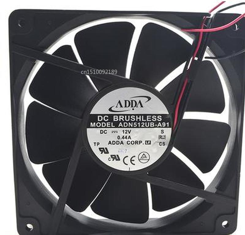 For Original ADN512UB-A91 1U Server Cooling Fan DC 12V 0.44A 2500RPM 13525 135*135*25mm 2 Wires Free Shipping