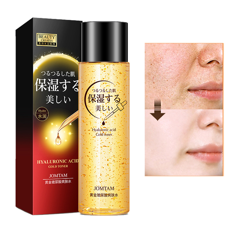 Hyaluronic Acid Facial Toner 24k Gold Essence Pore Minimizer Face