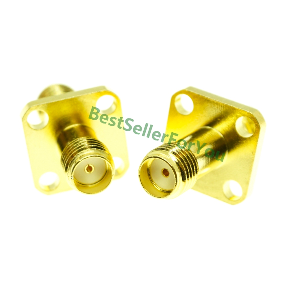 Adapter SMA Female To SMA Female 12.7mm 4 Hole Flange Panel Mount Connector F/F
