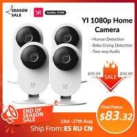 YI 1080p Wifi Cámara 1/ 2/ 4 Uds Video inteligente cámaras con Montion detectar Ip cámara de seguridad de protección de Mini cámara Gato Cam