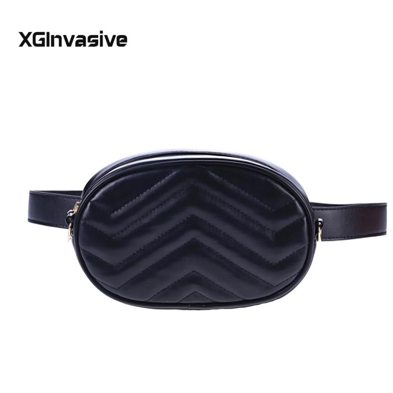 Belt Bag Waist Bag Round Fanny Pack Women Luxury Brand Leather Handbag Red Black Beige 2019 Summer High Quality Drop Shipping