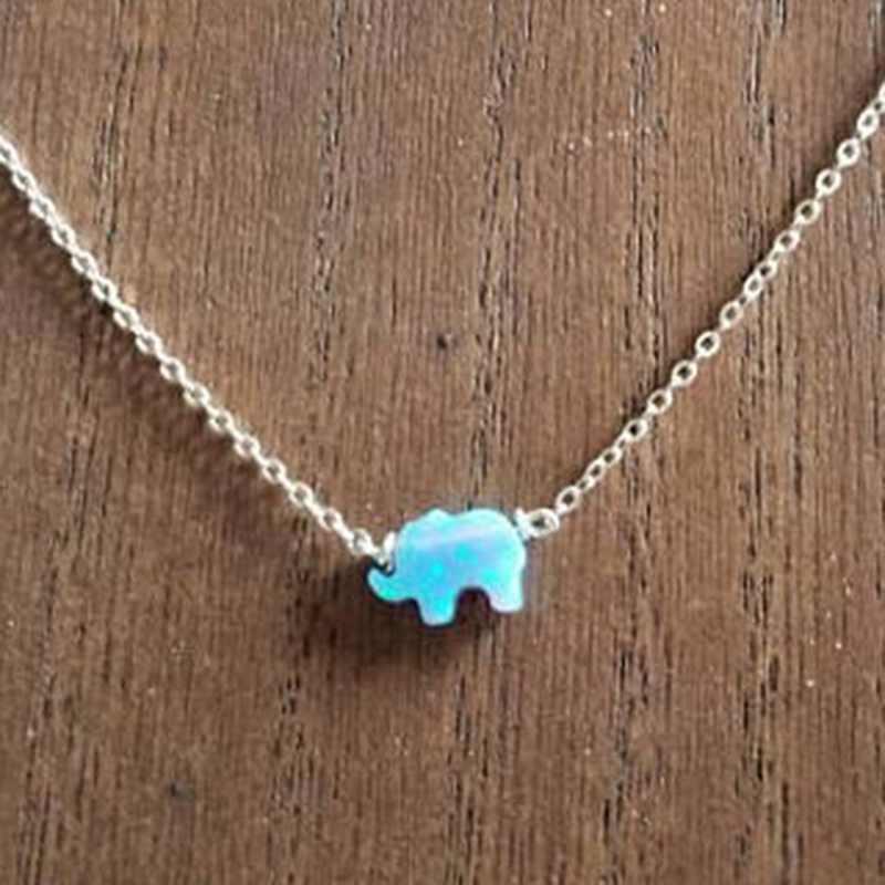 Amuleto de boa Sorte Elefante Amizade Colar Mulheres Jóias Em Aço Inoxidável Cadeia Delicada Do Bebê Os Melhores Presentes Para Ela Collier Femme