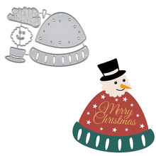 DiyArts Christmas Dies Hat Style Snowman Metal Cutting New for Card Making Scrapbooking Embossing Cuts Stencil Craft